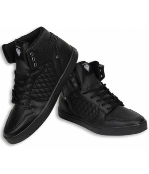 Cash Money Heren Schoenen - Heren Sneaker High - Jailor Full Black Pu