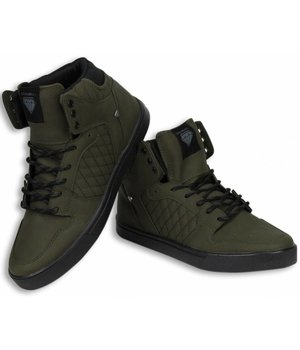 Cash Money Heren Schoenen - Heren Sneaker High - Jailor Khaki