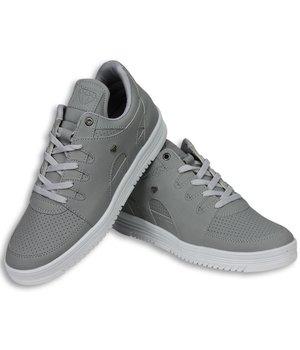 Cash M Heren Schoenen - Heren Sneaker Low - States Grey White - Grijs