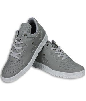 Cash Money Heren Schoenen - Heren Sneaker Low - States Grey White - Grijs