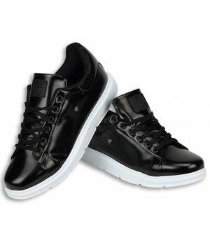 Cash M Heren Schoenen - Heren Sneaker Skool Low - Zwart