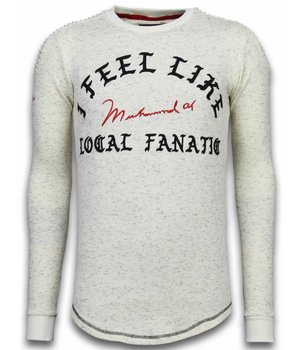 Local Fanatic Longfit Sweater - I Feel Like Muhammad - Beige