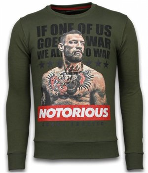 Local Fanatic Conor McGregor - Rhinestone Sweater - Groen