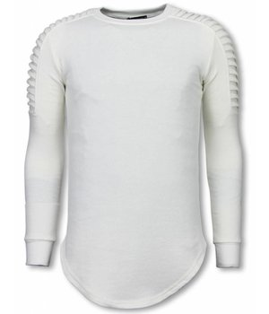 Uniplay Longfit Sweater - Biker Shoulder - Wit
