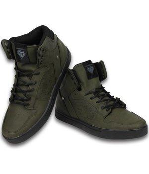 Cash M Heren Schoenen - Heren Sneaker High - Touch Khaki