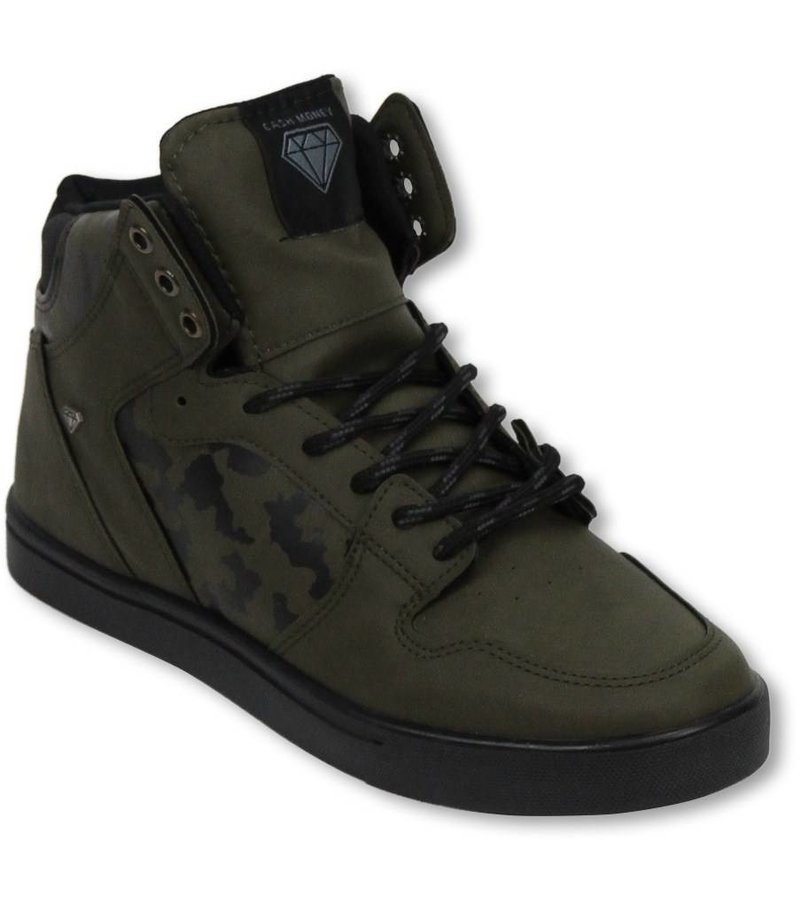Cash M Heren Schoenen - Heren Sneaker High - Army Khaki Black
