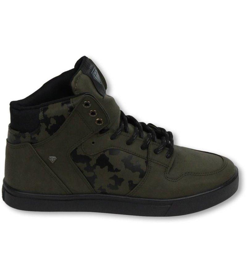 Cash Money Heren Schoenen - Heren Sneaker High - Army Khaki Black