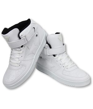 Cash Money Heren Schoenen - Heren Sneaker High - Star White Black