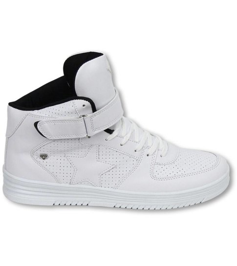 Cash M Heren Schoenen - Heren Sneaker High - Star White Black