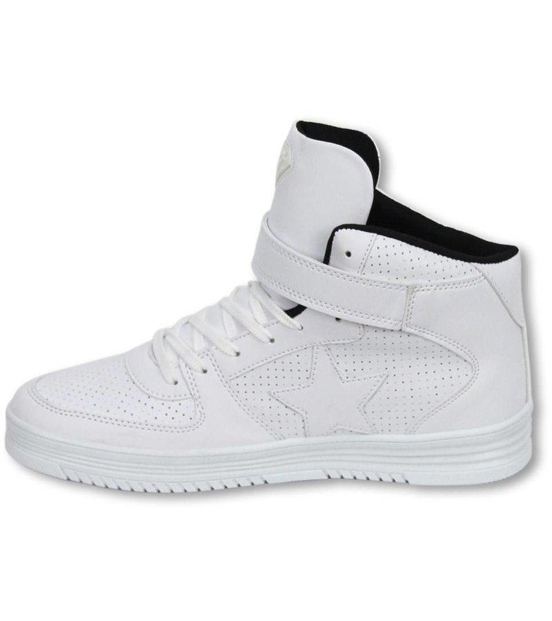 Cash Money Heren Schoenen - Heren Sneaker High - Star White Black