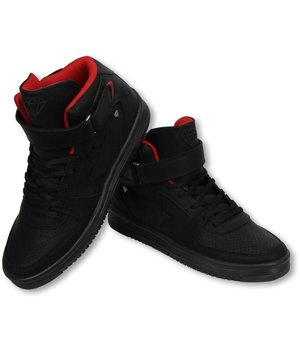 Cash Money Heren Schoenen - Heren Sneaker High - Star Black Red