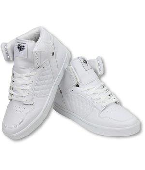 Cash M Heren Schoenen - Heren Sneaker High - Jailor White Matt