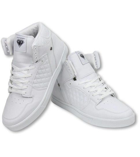 Cash M Heren Schoenen - Heren Sneaker High - Jailor White Matt