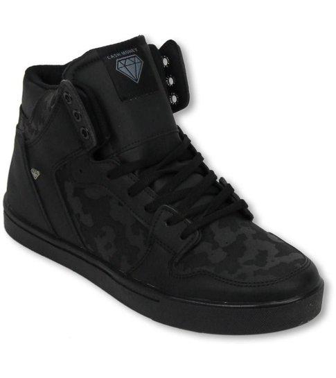Cash M Heren Schoenen - Heren Sneaker High - Army Full Black