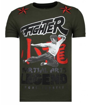 Local Fanatic Fighter Legend - Rhinestone T-shirt - Khaki