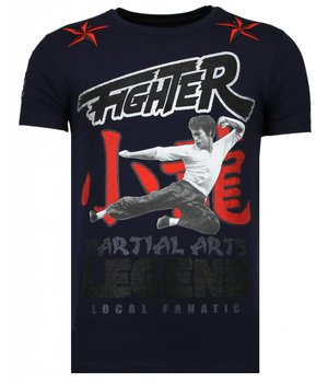 Local Fanatic Fighter Legend - Rhinestone T-shirt - Navy