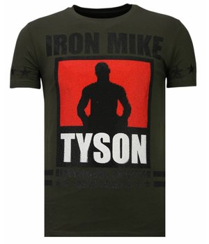 Local Fanatic Iron  Mike Tyson - Rhinestone T-shirt - Khaki