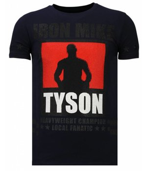 Local Fanatic Iron  Mike Tyson - Rhinestone T-shirt - Navy
