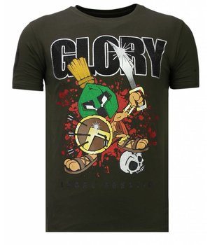 Local Fanatic Glory Martial - Rhinestone T-shirt - Khaki