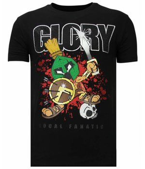 Local Fanatic Glory Martial - Rhinestone T-shirt - Zwart