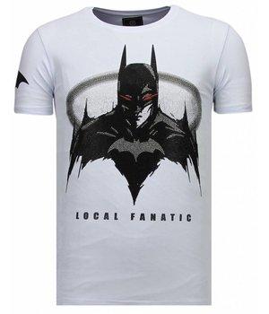 Local Fanatic Badman - Rhinestone T-shirt - Wit