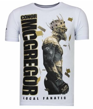 Local Fanatic Notorious King -Conor McGregor Rhinestone T-shirt - Wit