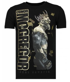 Local Fanatic Notorious King - Conor McGregor McGregor Rhinestone T-shirt - Zwart