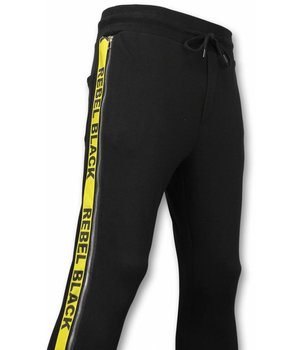 Enos Casual Joggingbroek - Rebel Black - Zwart