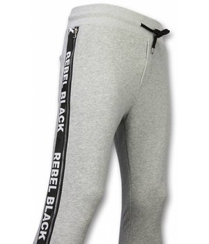 Enos Casual Joggingbroek - Rebel Black - Grijs