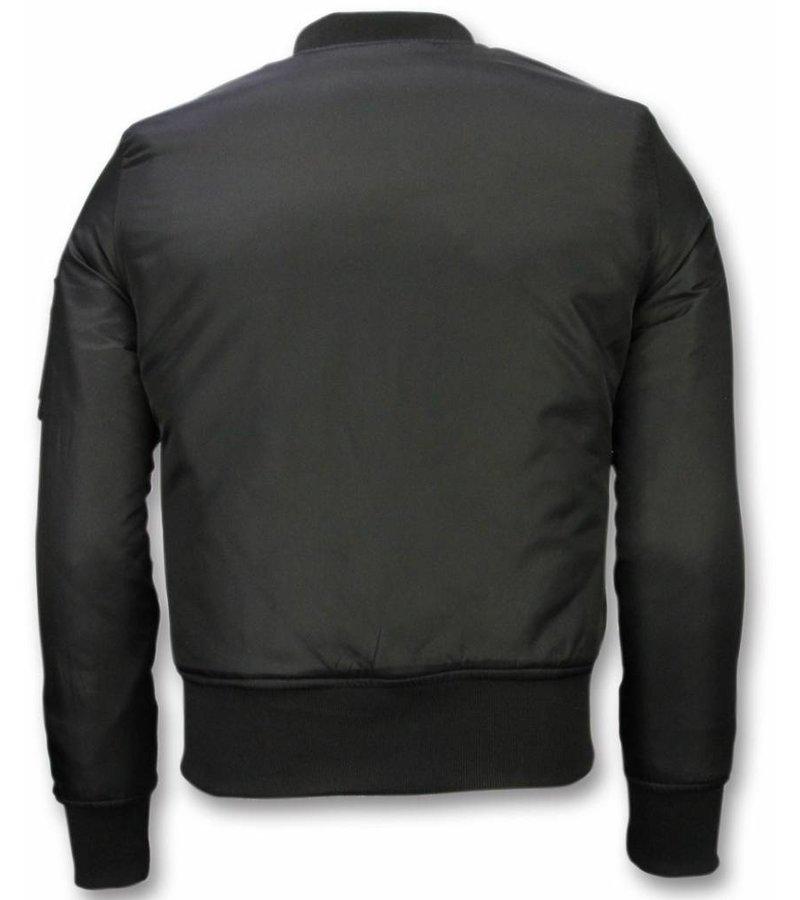 Bomberjack heren bomber jas basic zwart style italy for Bomberjack heren