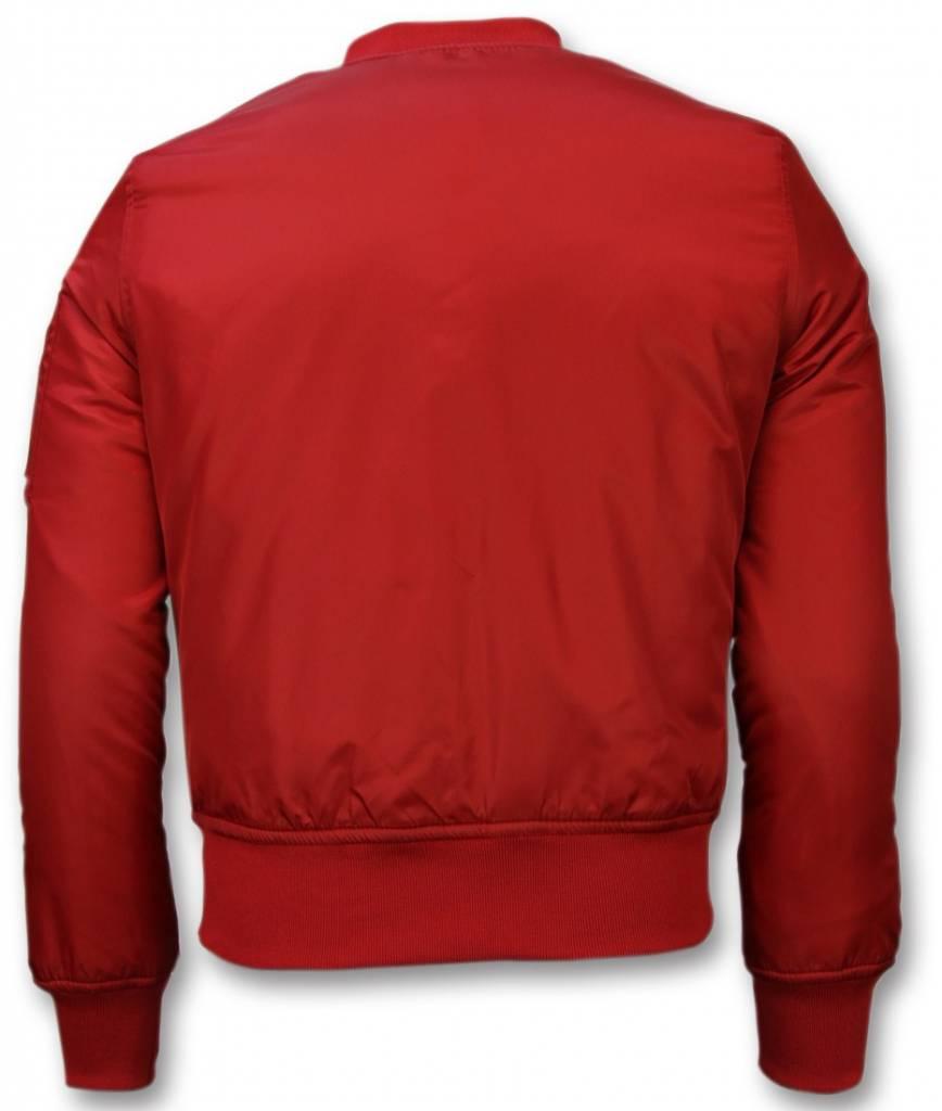 Bomberjack heren bomber jas basic rood style italy for Bomberjack heren