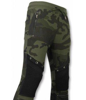 Enos Camouflage Broek - Casual Joggingbroek - Camouflage Biker - Khaki