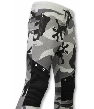 Enos Camouflage Broek - Casual Joggingbroek - Camouflage Biker - Grijs