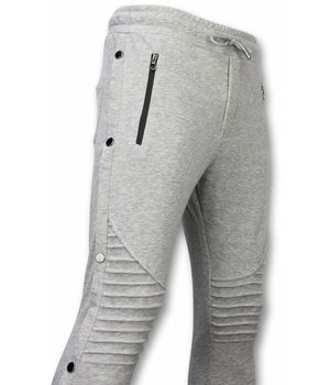Enos Casual Joggingbroek - Buttons Joggingbroek - Grijs
