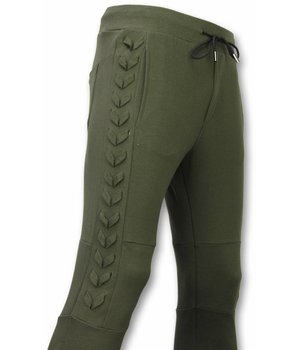 Enos Casual Joggingbroek - Braided Joggingbroek - Khaki