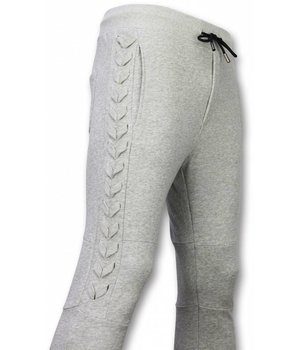 Enos Casual Joggingbroek - Braided Joggingbroek - Grijs