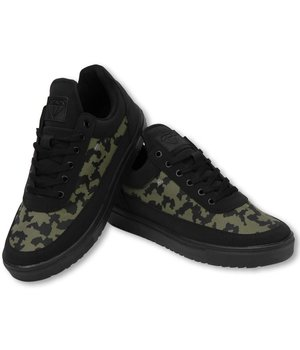 Cash Money Heren Schoenen - Heren Sneaker Low Case - Army Kaki Black