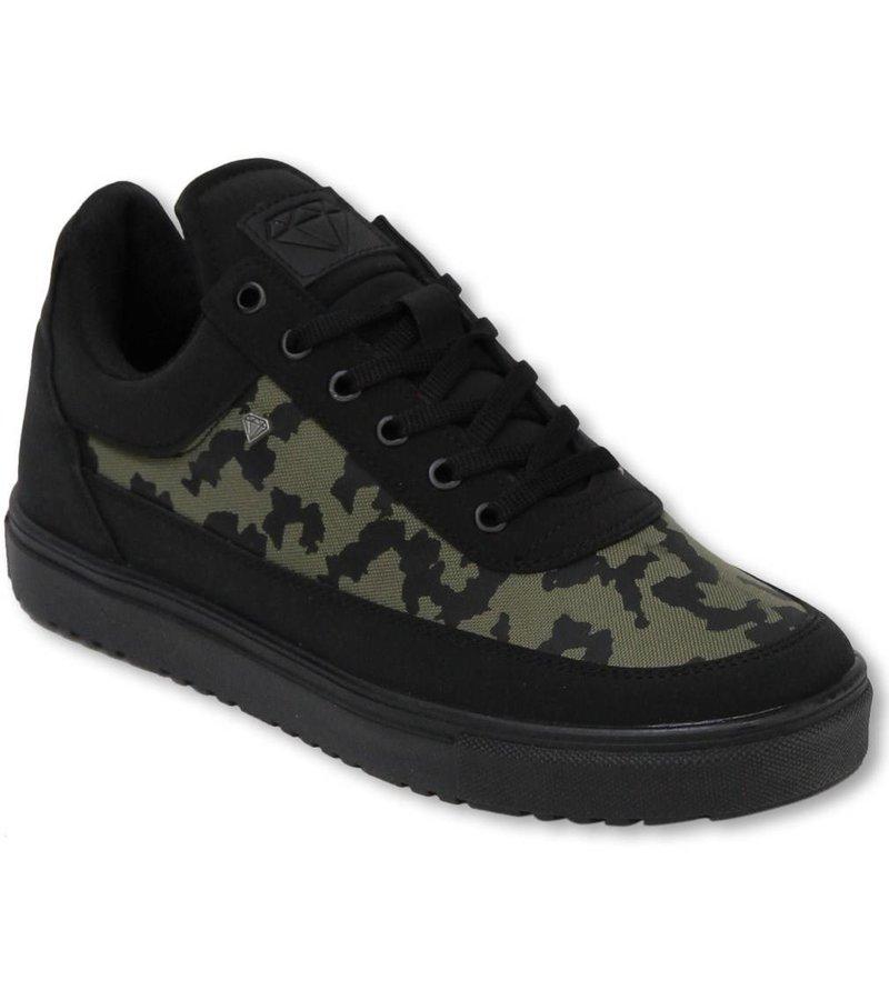 Cash Money Heren Schoenen - Heren Sneaker Low Case - Army Kaki Black