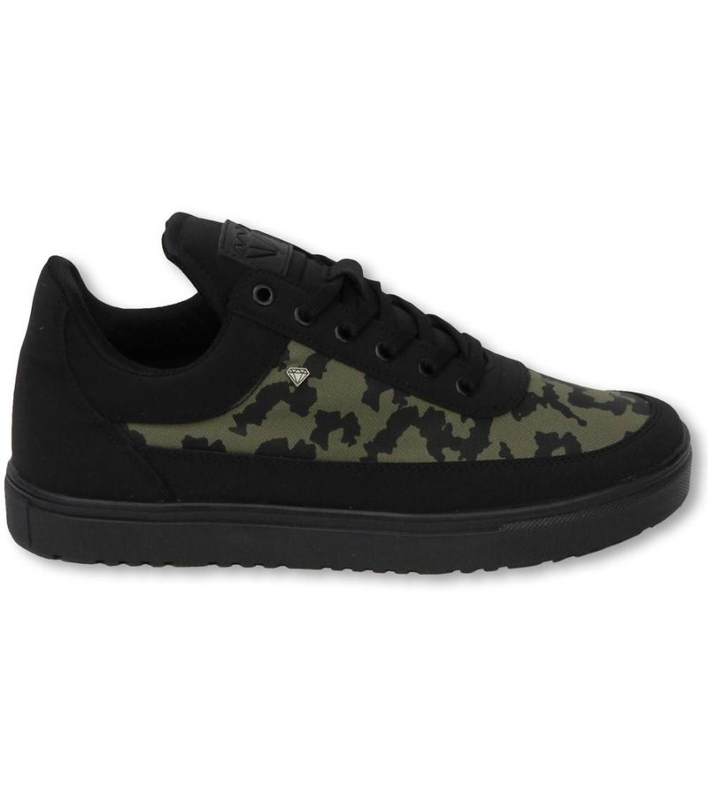 Cash M Heren Schoenen - Heren Sneaker Low Case - Army Kaki Black