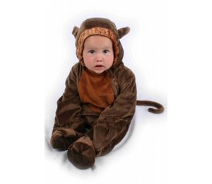 Babyfeestkleding baby's: Aapje pluche