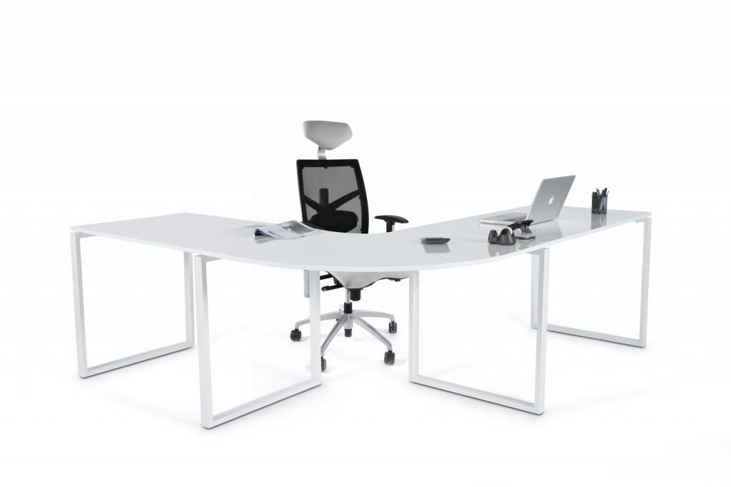 Design bureau haarle design meubels for Mesa de ordenador blanca