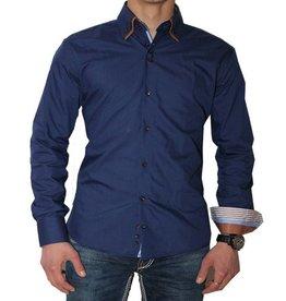 Arya Boy Heren overhemd - Donkerblauw