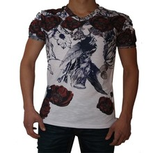 Wam Denim Italiaanse heren T-Shirt - Wit