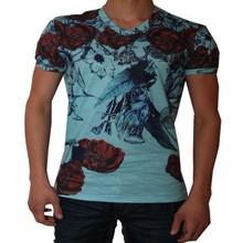Wam Denim Italiaanse heren T-Shirt - Turquoise