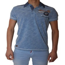 Wam Denim Heren T-shirt - Blauw