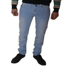 Wam Denim Italiaanse heren jeans - Lichtblauw (Regular-Fit)