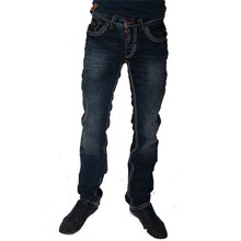 Wam Denim Italiaanse heren jeans - Gestikt (Regular-fit)