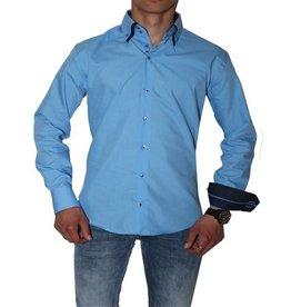 Arya Boy Italiaanse overhemden - Lichtblauw