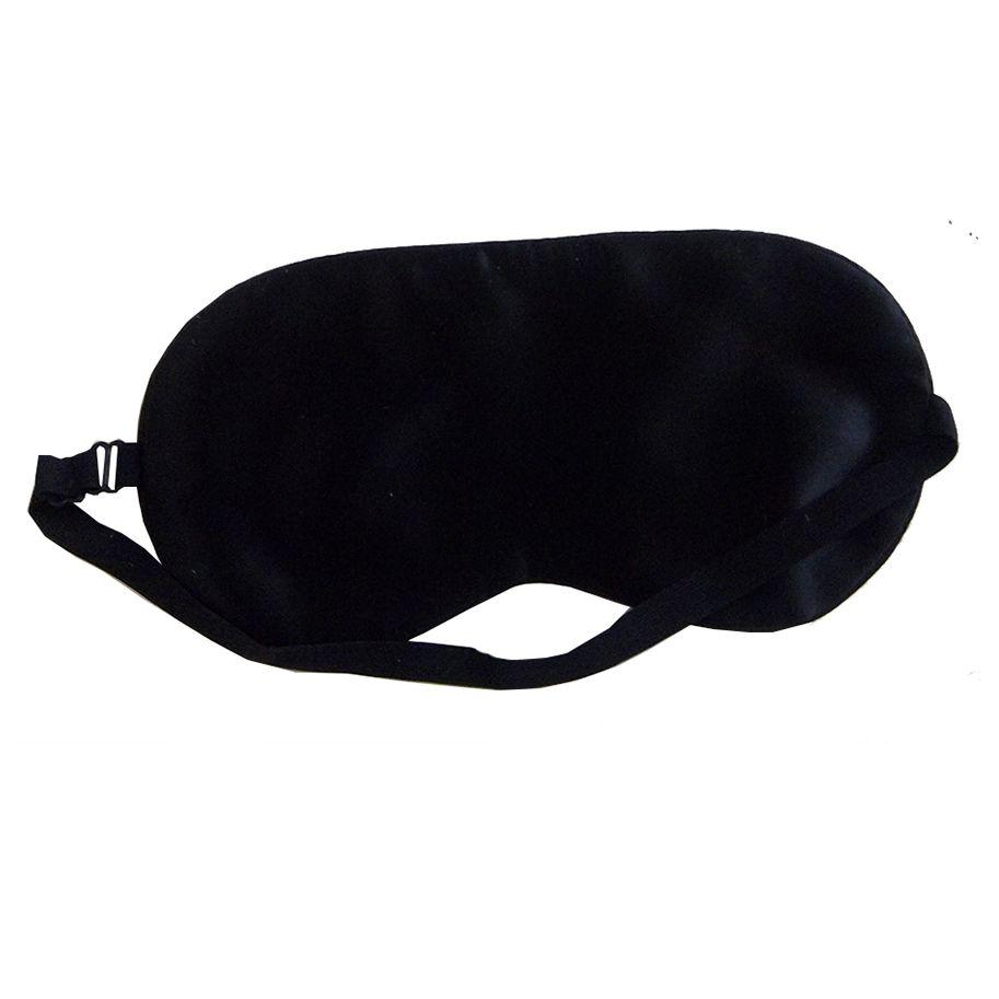 Luxe zijden slaapmasker - Zwart