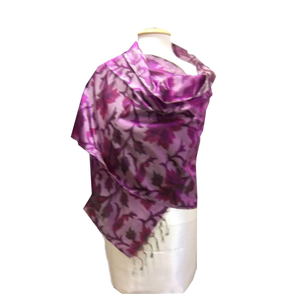 Zijden sjaal Purple Topic